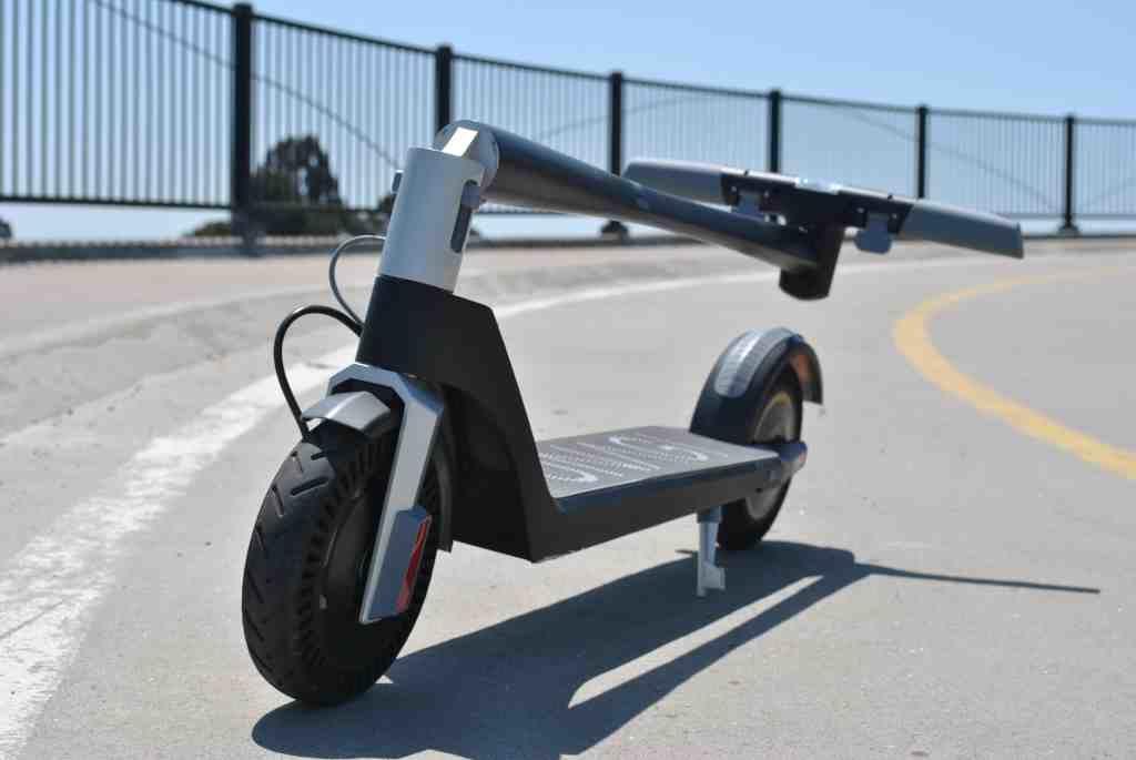 Unagi electric scooter folded