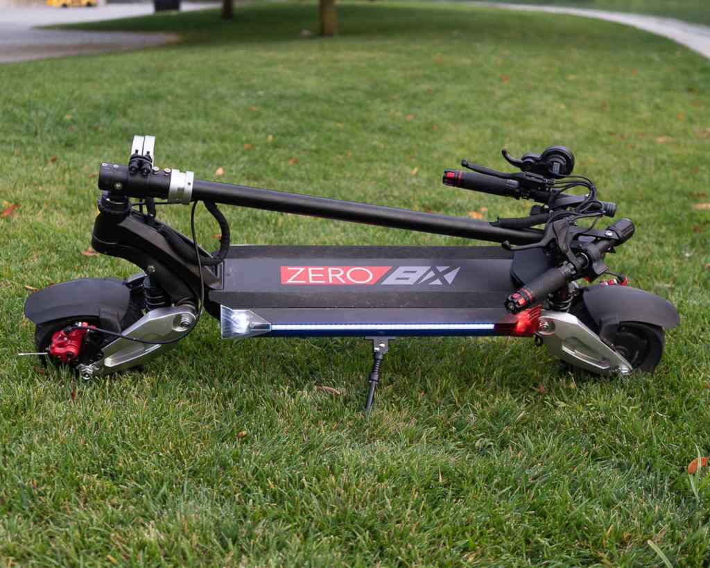 Zero 8X folded in grass